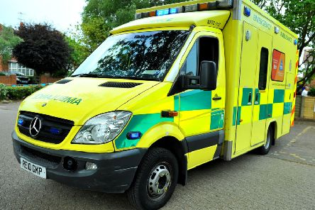 NHS Health service ambulance
