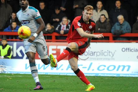Josh Yorwerth in action for Crawley Town