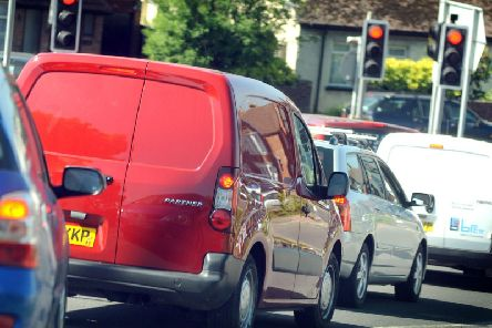 An accident on the A24 is causing delays