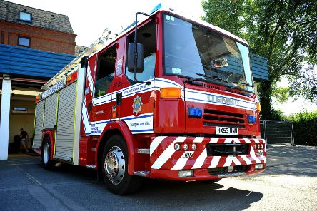 West Sussex Fire and Rescue. Pic Steve Robards SR1817300 SUS-180108-084305001