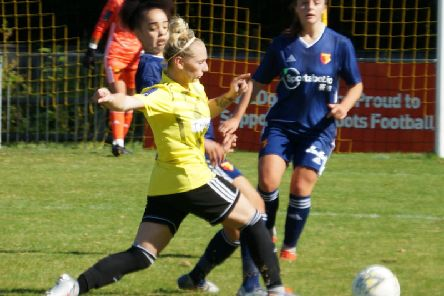 Action from Crawley Wasps v Watford. Picture by Alan Sillwood-Brown