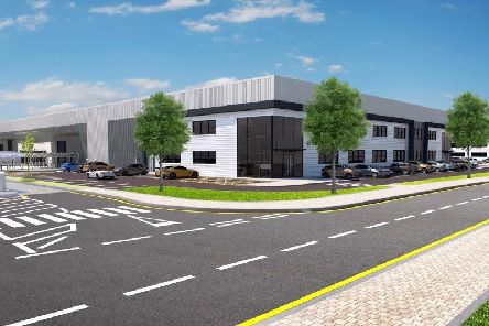 An image of how the new logistics hub will look