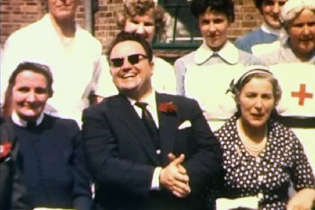 Harry Secombe on his visit