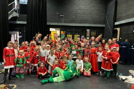 The Grinch was performed by students from Ariel Company Theatre's Crawley Academy