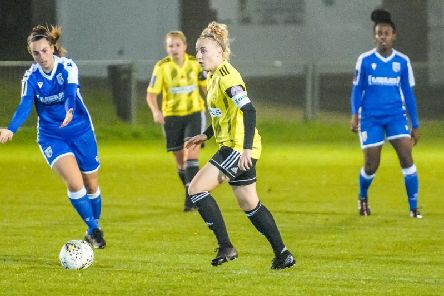 Wasps captain Naomi Cole in action against Gillingham. Picture by Ben Davidson Photography