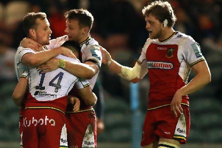 Saints celebrated at Welford Road on Friday night