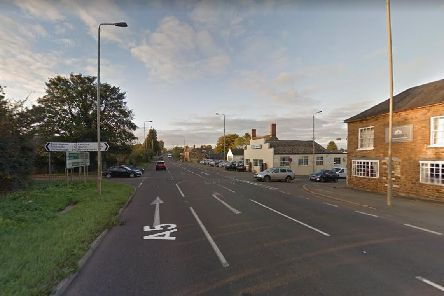 The A5, Fosters Booth, where the crash happened on Tuesday