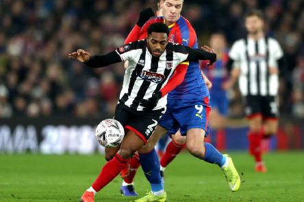 Reece Hall-Johnson in action for Grimsby Town during their FA Cup clash with Crystal Palace last season. Picture: Bryn Lennon/Getty Images