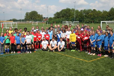A girls' football tournament was held on the new 3G pitch at Daventry Sports Park last week as part of its grand opening.