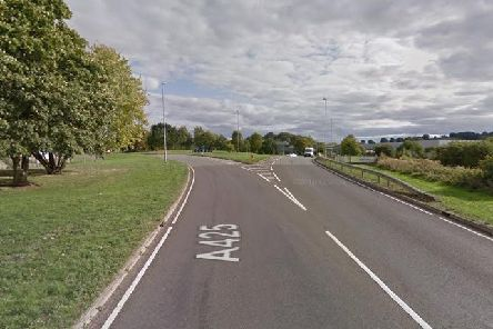 The crash was on the A425 South Way in Daventry. Photo: Google