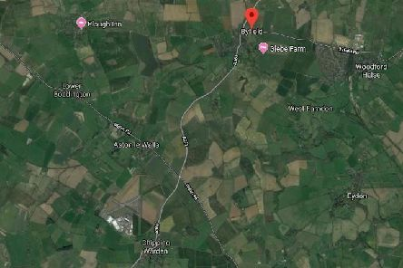 The crash was on the A361 between Byfield and Chipping Warden. Photo: Google