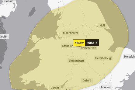 Met Office experts issued a yellow warning for high winds.