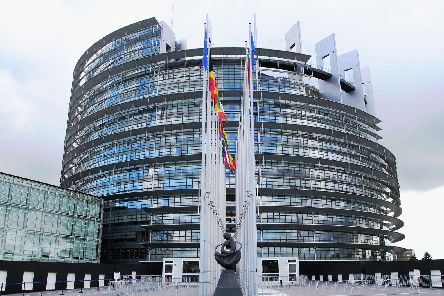 The Louise Weiss building, seat of the EU Parliament in Strasbourg, was inspired by the pagan colosseum in Rome, says Rev. Jonathan Campbell.