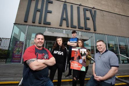 Pictured from David McGarrigle's production of Keep 'er Lit, launching this summer's The Alley Guide are Ronan Boyle, Katie Anderson, Darragh Doherty, Jessica Barnett and Niall Blee.