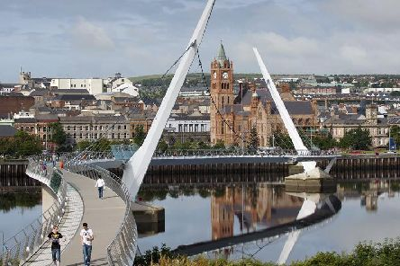 The Peace Bridge in Derry.