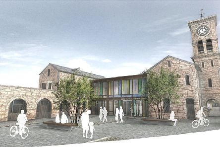 Artist's impression of proposed new Waterside train station.