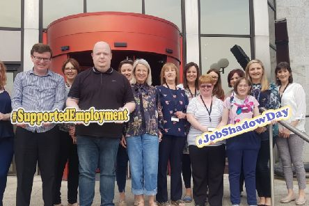 Local participants of the Job Shadow Day with representatives from Derry City & Strabane District Council at the city headquarters on Strand Road.