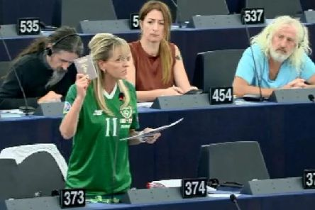 Martina Anderson with European United Left/Nordic Green Left members Luke 'Ming Flanagan', Clare Daly and Mick Wallace.
