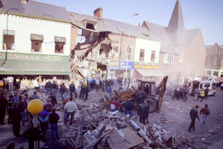 The devastation caused by the Shankill bomb.