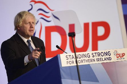 Boris Johnson pictured at the DUP annual conference in Northern Ireland in November 2018. (Photo: Pacemaker) (Video courtesy of BBC News NI)