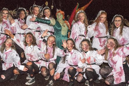 Princess Fiona (a.k.a. Mayor of Derry and Strabane Councillor Michaela Boyle) from 'Shrek' and her gang get in on the Hallowe'en atmosphere in Derry.