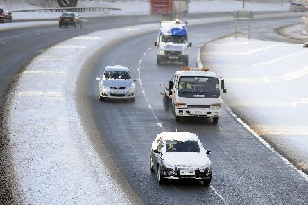 Motorists are advised to exercise extra caution when driving in cold and wintry conditions. (Library Image)