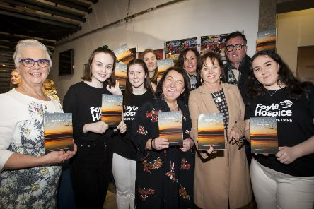 "BE STILL . . . . . .Group pictured at Sunday night�""s ��Be Still�"" book launch at the Millennium Forum. From left, Siobhan Heaney, Maeve Corr, Sarah Jane Carton, Lucy Acton, Sandra Biddle, Prof. Deirdre Heenan, Dr. Dolores O�""Reilly, Mark Patterson and Grace Moore. (Photos: jim McCafferty Photography)"