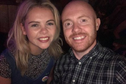 Barra Best with Derry Girls' Saoirse Monica Jackson.