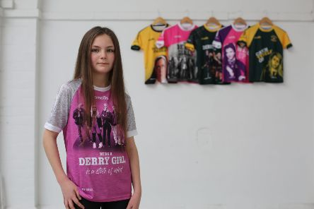 The new 'Being a Derry Girl is a state of mind' jersey which is being officially announced today by O'Neills Sportswear. There are now a total of six Derry Girls' jerseys inspired by the hit Channel 4 television series.
