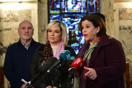 Sinn Fein President Mary Lou McDonald pictured recently with Michelle O'Neill. Pic Colm Lenaghan/Pacemaker