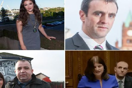 Clockwise from top left, Colr. Cara Hunter, Mark Durkan MLA, Sinead McLaughlin MLA and Colr. Brian Tierney.