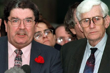 Seamus Mallon with John Hume at the time of the Good Friday Agreement.