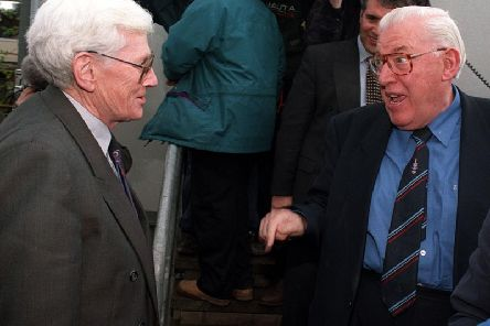 Seamus Mallon with the late Ian Paisley in 1997.