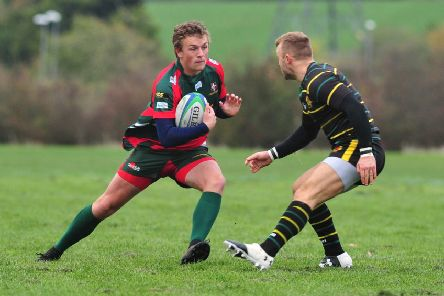 Tom Winch in action for Luton - pic: Ian Nancollas Photography