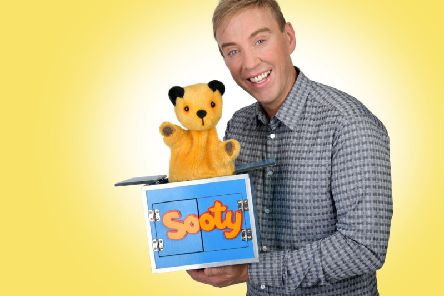 Richard Cadell with Sooty