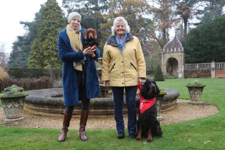 Emma and Sizzle with Sue and Sharwood.