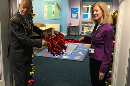 The Dunstable Mayor officially opened The Vale Academy Nursery