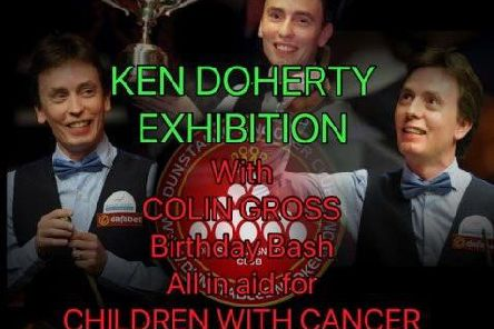 Poster for the event to raise money for Children With Cancer