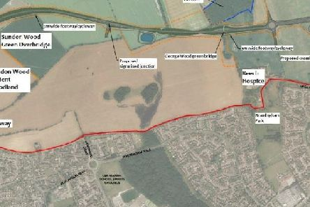 The newly approved M1-A6 link road will lie just north of Luton