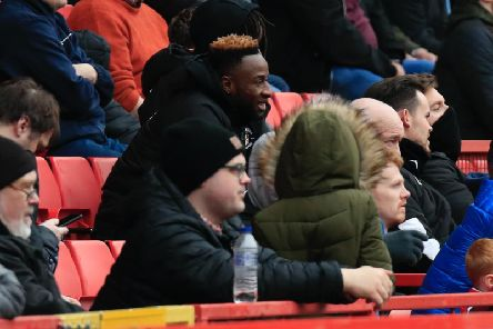 Kazenga LuaLua watches on as Town are beaten by Charlton at the weekend