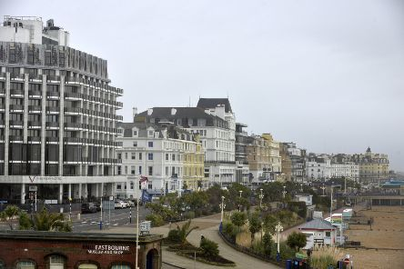 Hotels on Eastbourne Seafront (Photo by Jon Rigby) SUS-180124-124901008