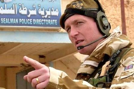Lt Col (retired) Chris Parker (right) in Iraq.
