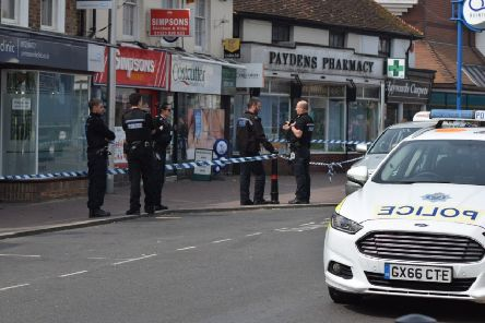 Police in Hailsham on Wednesday