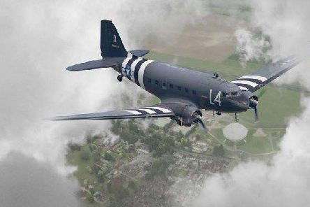Historic World War II aircraft will be flying over Eastbourne on their way to Normandy to commerate D-Day 75