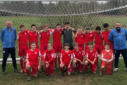 The South East Sussex Schools' under-13 boys' football team