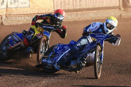 Action from Eastbourne v Leicester earlier in the season. Picture by Mike Hinves