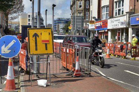 Roadworks in Station Parade, Eastbourne (Photo by Jon Rigby) SUS-190808-111123008