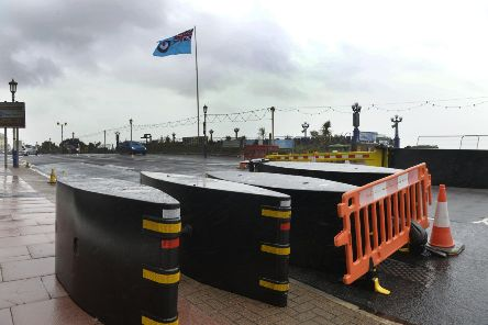 Barriers set up on Eastbourne Seafront for Airbourne 2019 (Photo by Jon Rigby) SUS-190814-165317008
