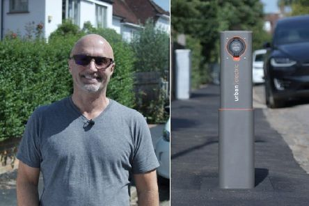 Keith Johnston's company Urban Electric has designed an electric car charger which disappears when not in use