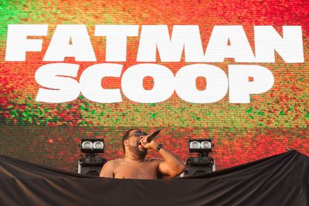 Fatman Scoop performing at Mutiney Festival, photo by Keith Woodland